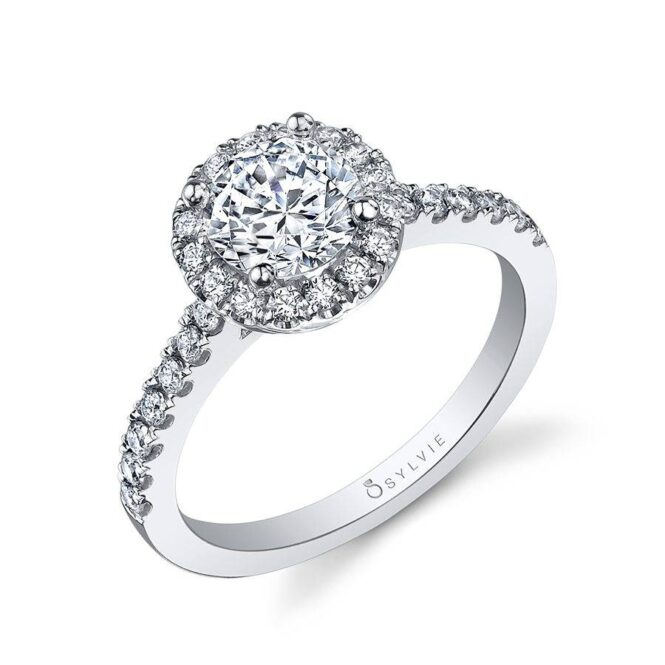 Classic Round Halo Engagement Ring