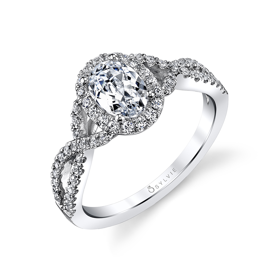 Oval Shaped Spiral Engagement Ring