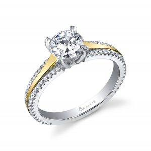 Round High Polish Solitaire Engagement Ring Profile