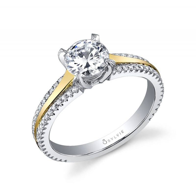 Maryvonne - Modern Solitaire Engagement Ring