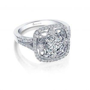 Elita- vintage inspired special edition halo engagement ring
