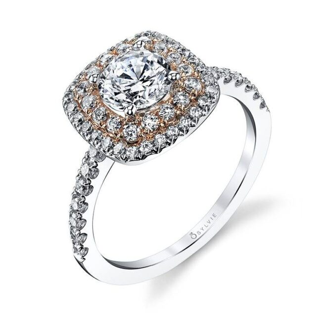 Classic Double Halo Engagement Ring