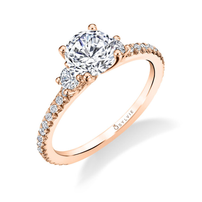 3 Stone Engagement Ring S1702-RG