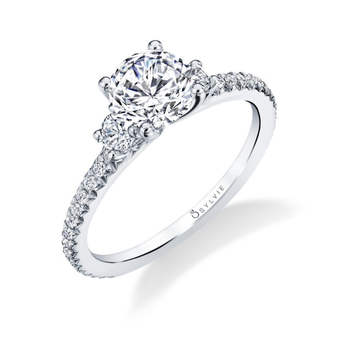 3 Stone Engagement Ring S1702