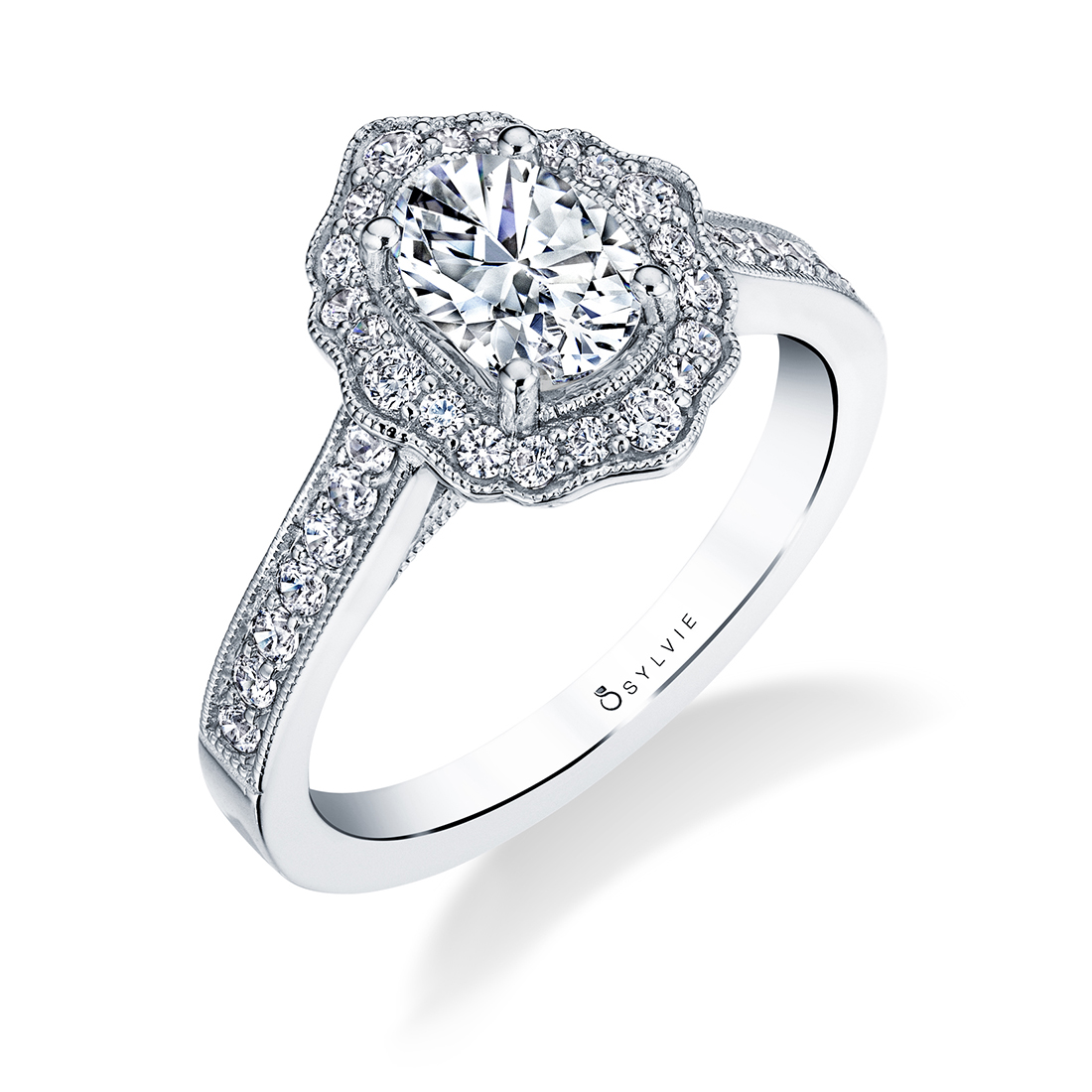 Floral Inspired Engagement Ring S1727-OV