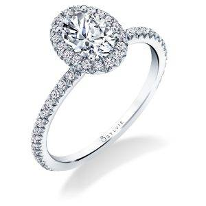 Vivian - Classic Oval Halo Engagement Ring