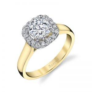 Profile Image of a Cushion Cut Engagement Ring