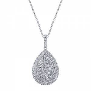 Pear Shaped Diamond Pendent