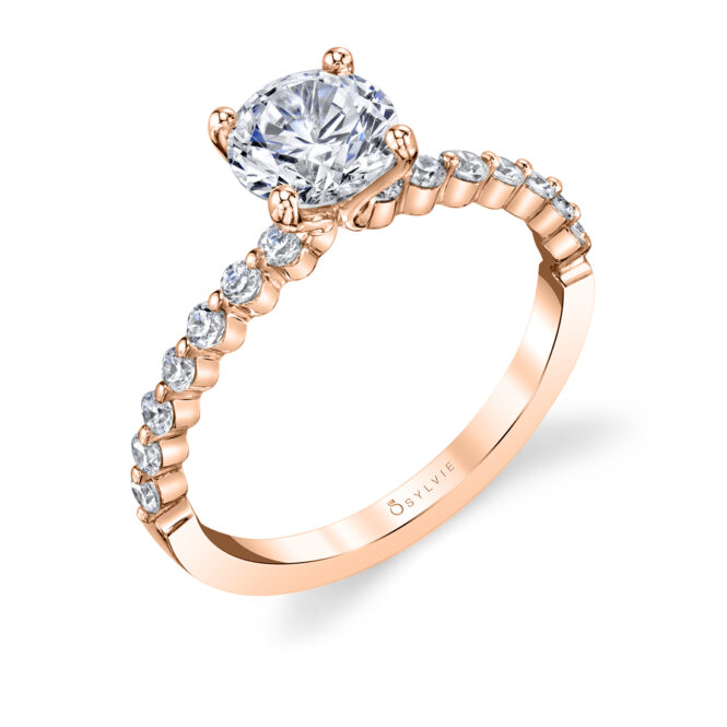 Single Prong Engagement Ring--029
