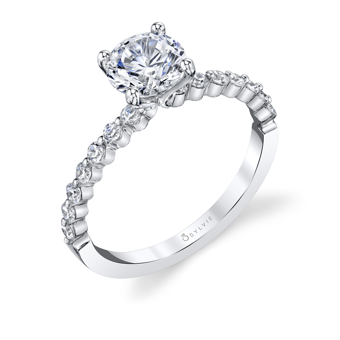 Single Prong Engagement Ring-S1P14-029-Sylvie