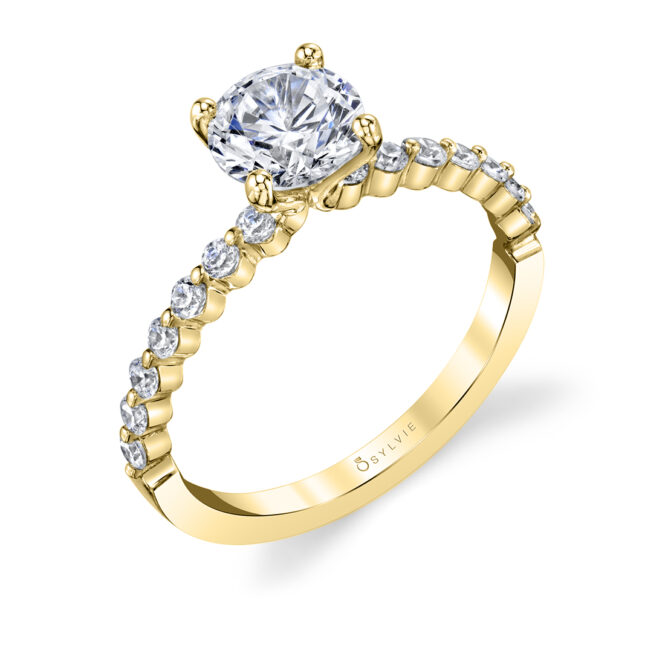 Single Prong Engagement Ring--029lvie
