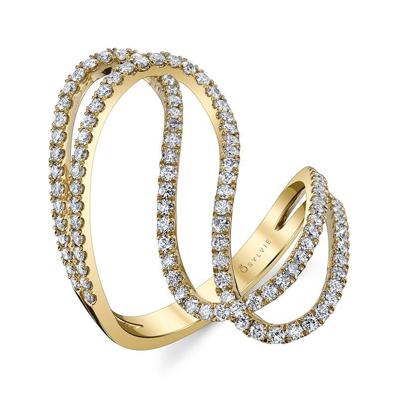yellow gold free form fashion ring