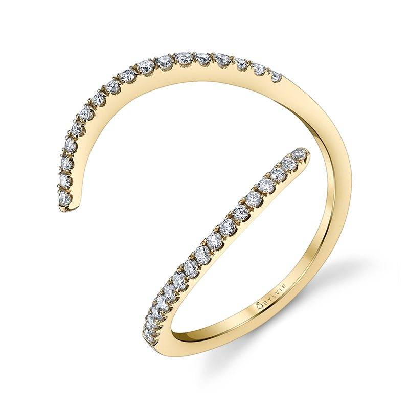 free form yellow gold fashion ring