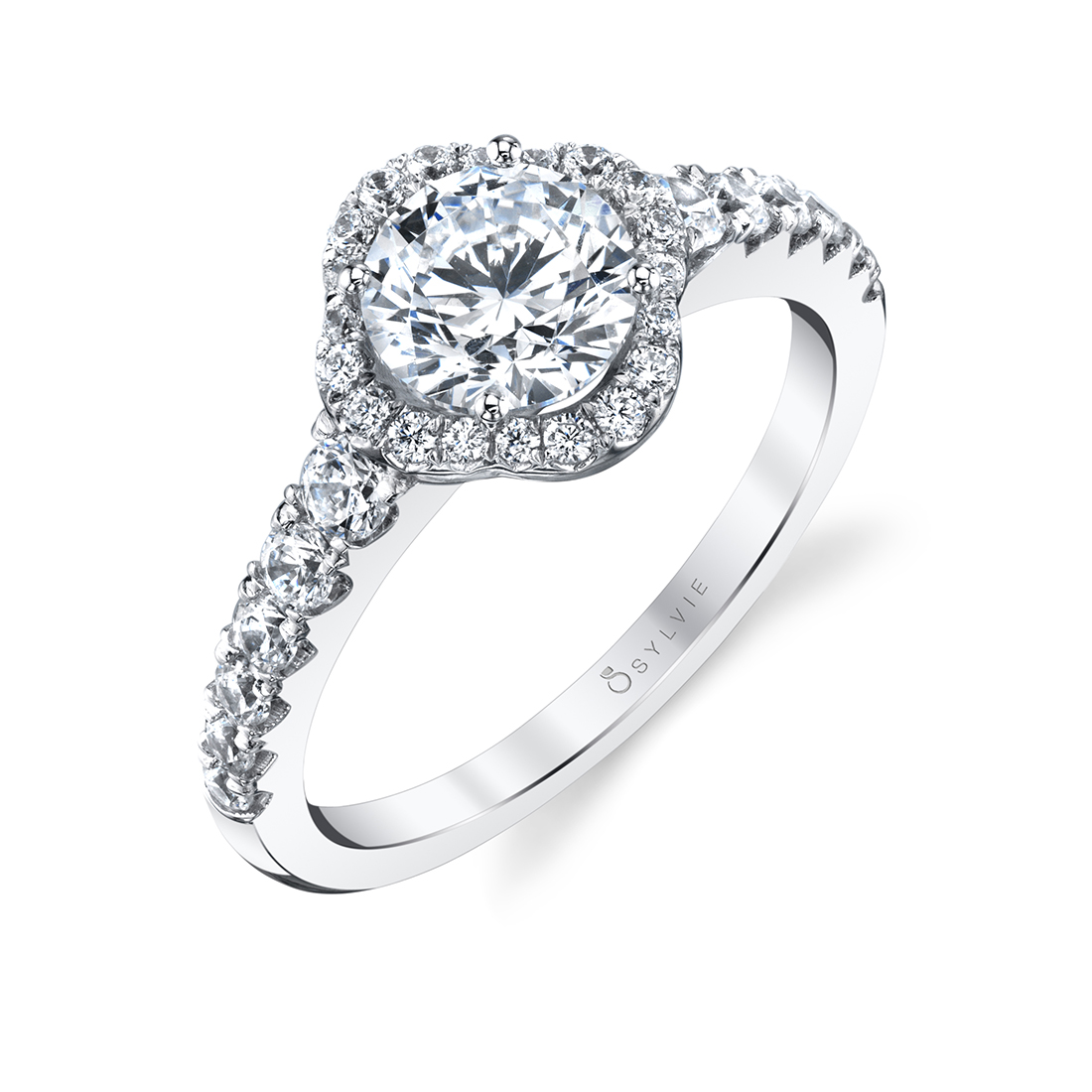 halo engagement ring S1804-RB