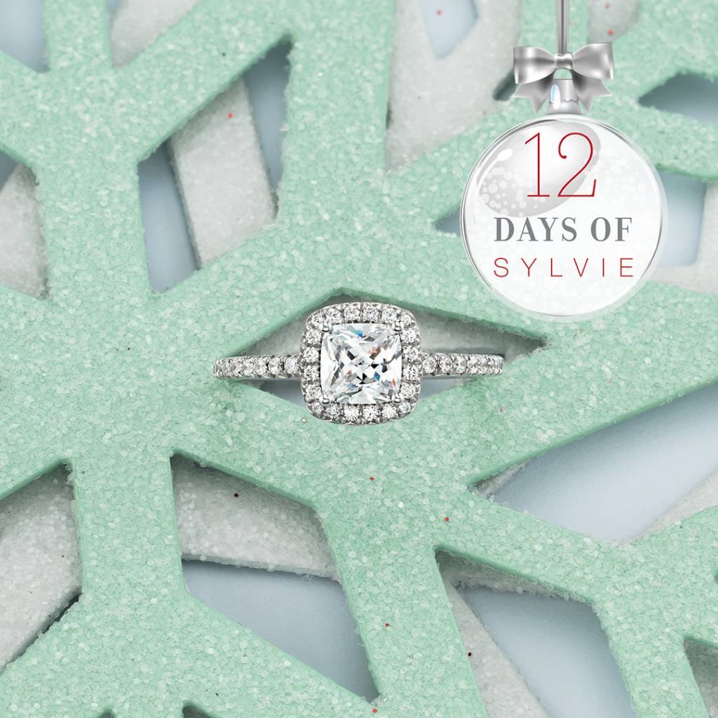 cushion engagement ring with halo