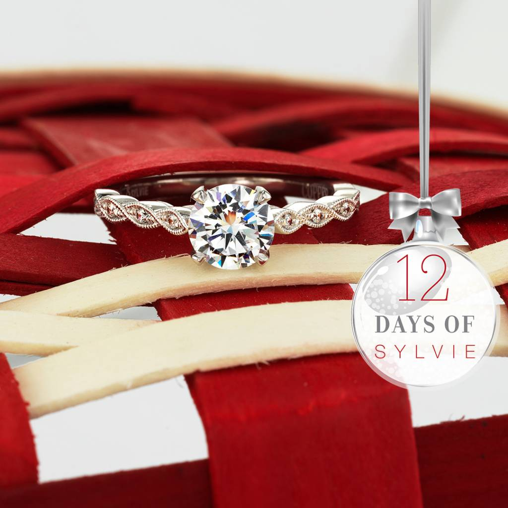 stackable solitaire engagement ring