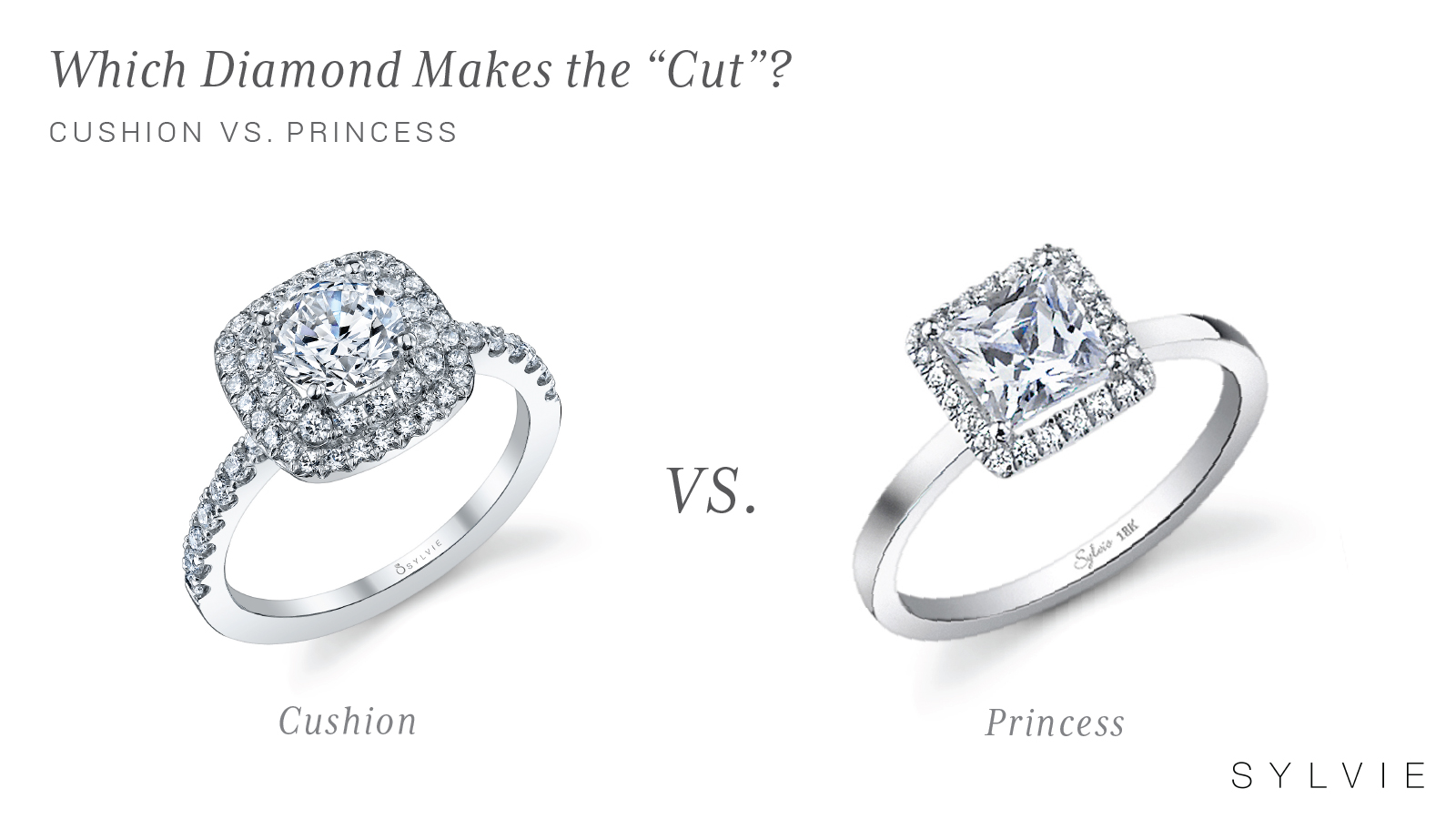 Before & After: Cushion Cut Halo Ring