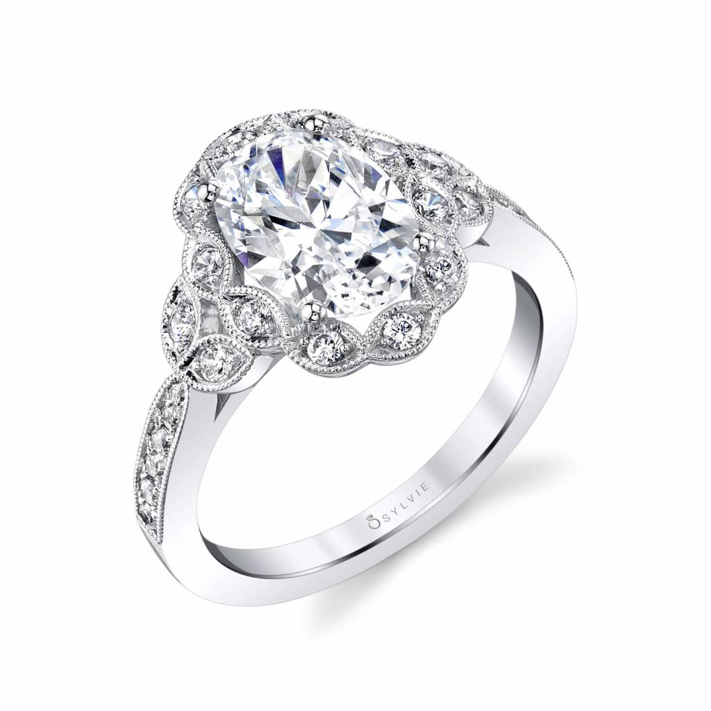 oval cut engagement ring - sylvie collection