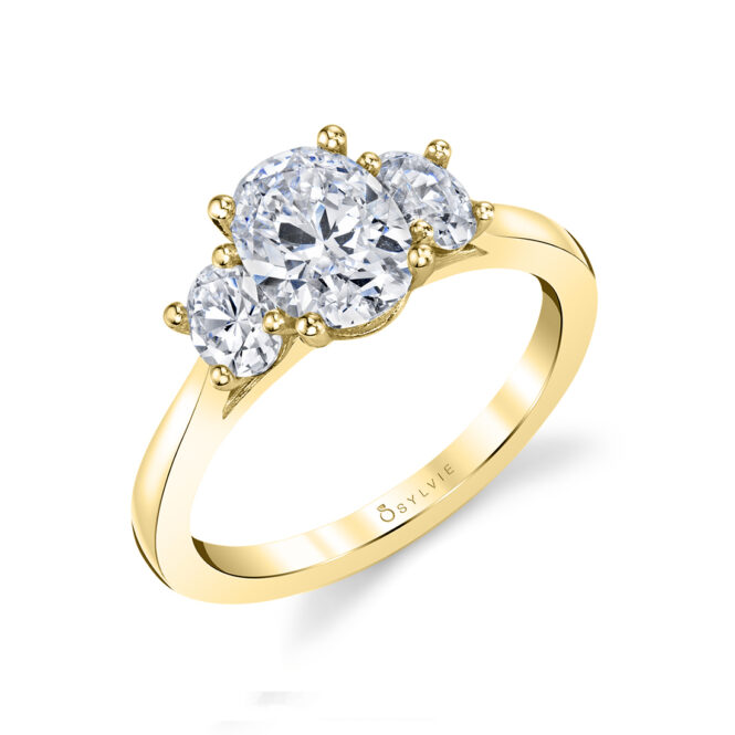 oval engagement ring S3022S-YG