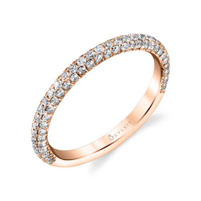 Pave Style Wedding Band-BS1633-RG-Style