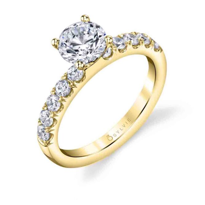 Solitaire engagement ring SBUP10-0050-YG