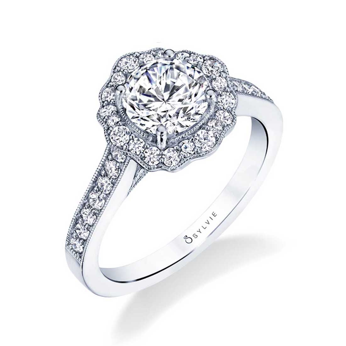 Flower Engagement Ring
