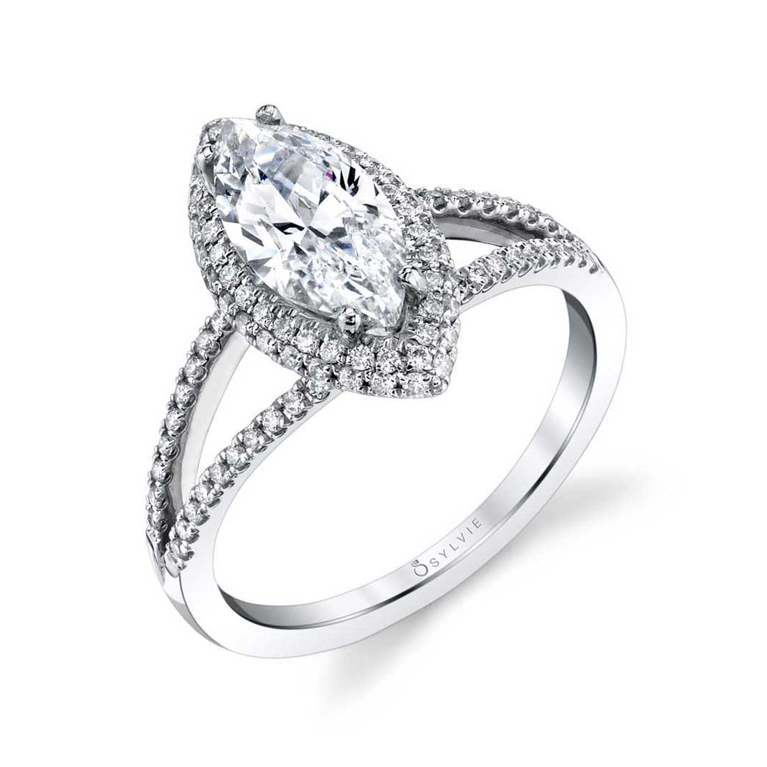 Marquise Cut Engagement Ring