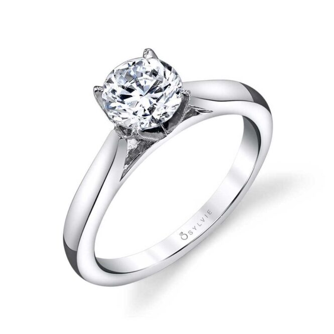 Modern Solitaire Engagement Ring
