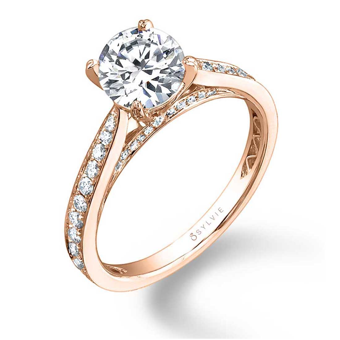 Ally - Modern Solitaire Engagement Ring - Sylvie Collection