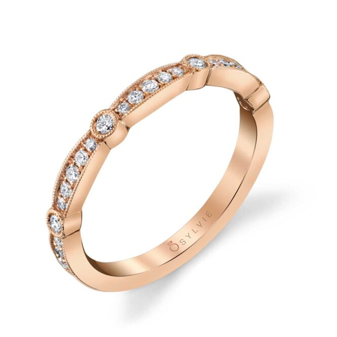 Modern Rose Gold Stackable Band