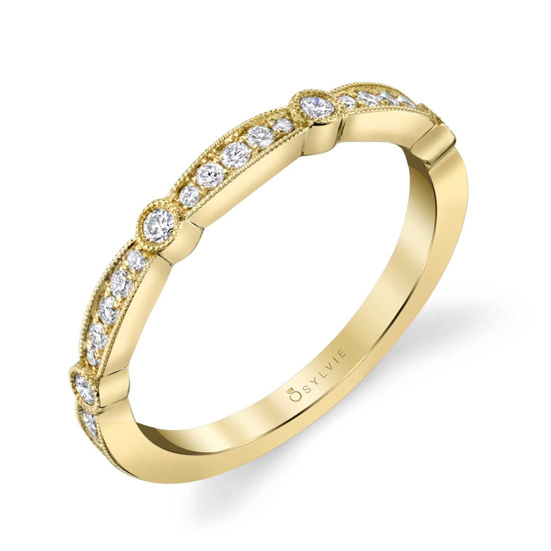 Modern Yellow Gold Stackable Band