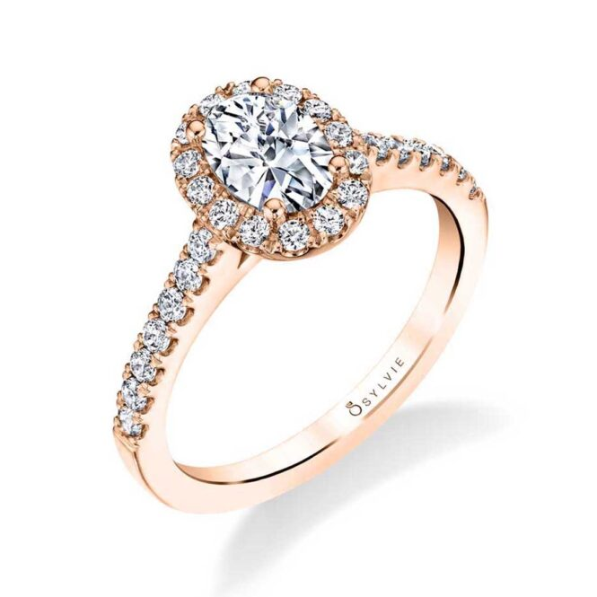 Classic Oval Engagement Ring with Halo
