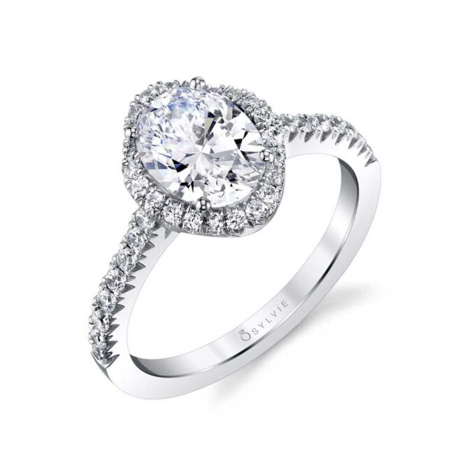 Oval Engagement Ring with Halo