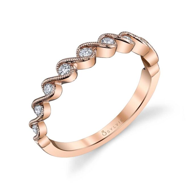Rose Gold Stackable Wedding Band