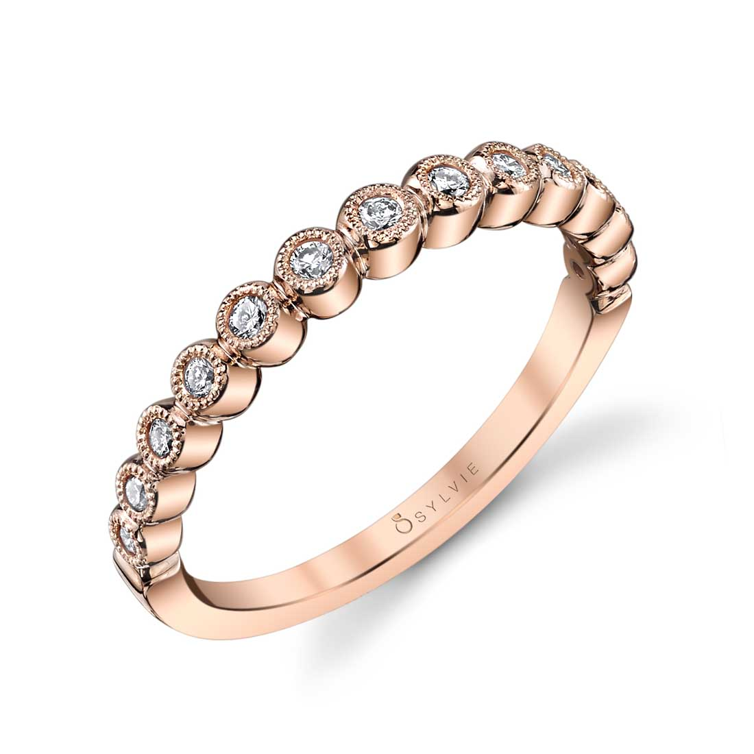 Stackable Engagement Ring with Halo