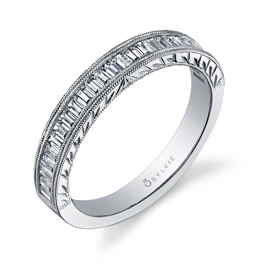 Hand Engraved Solitaire Engagement Ring