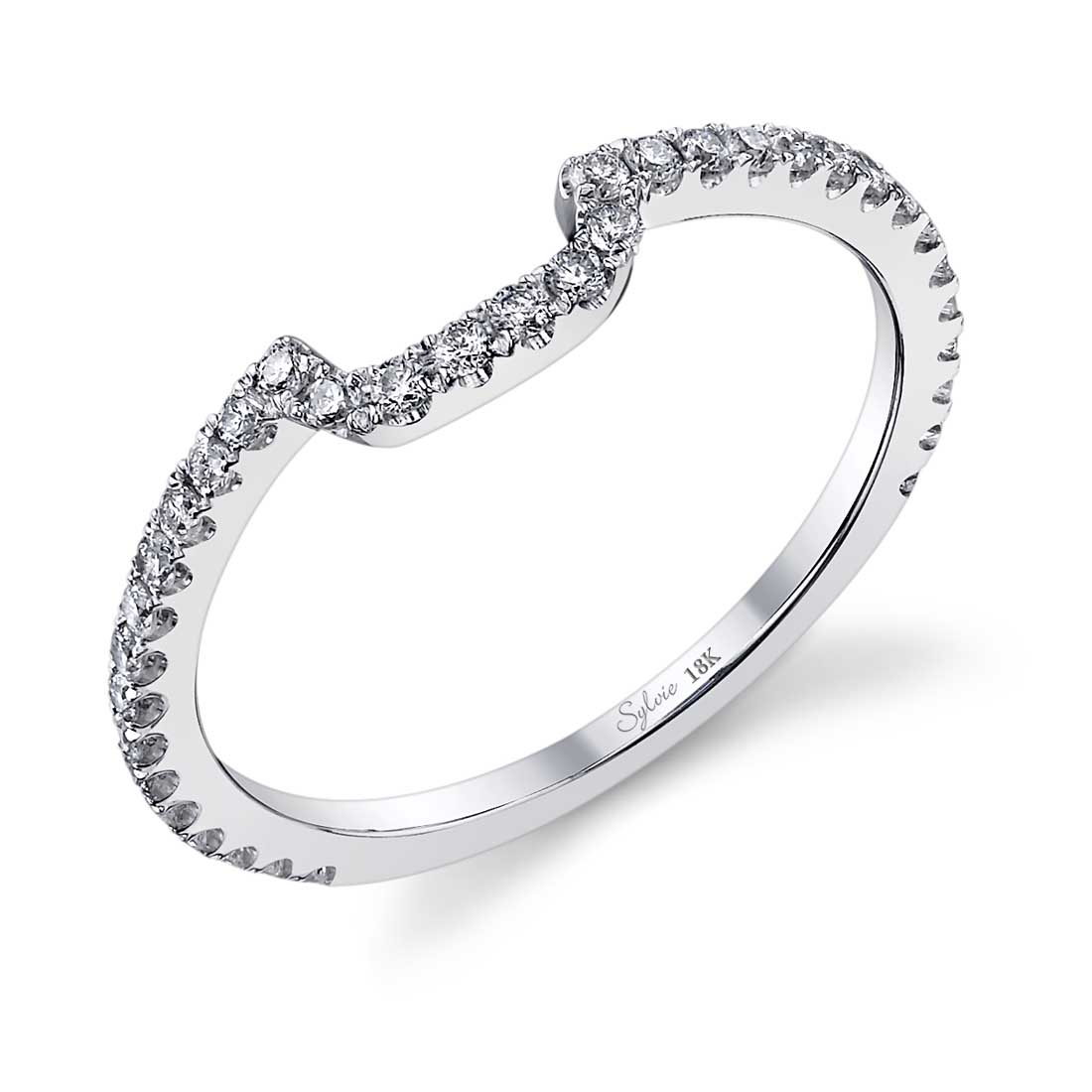 Profile of Cushion Cut Engagement Ring with Halo