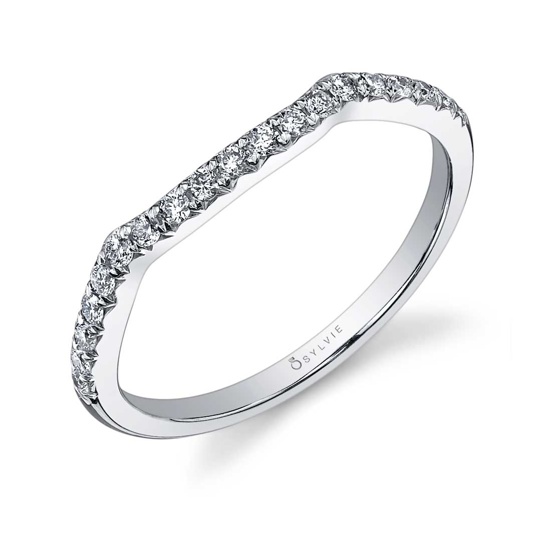 Profile Image of a Spiral Engagement Ring with Halo