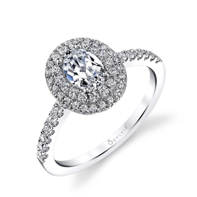Double Halo Engagement Ring