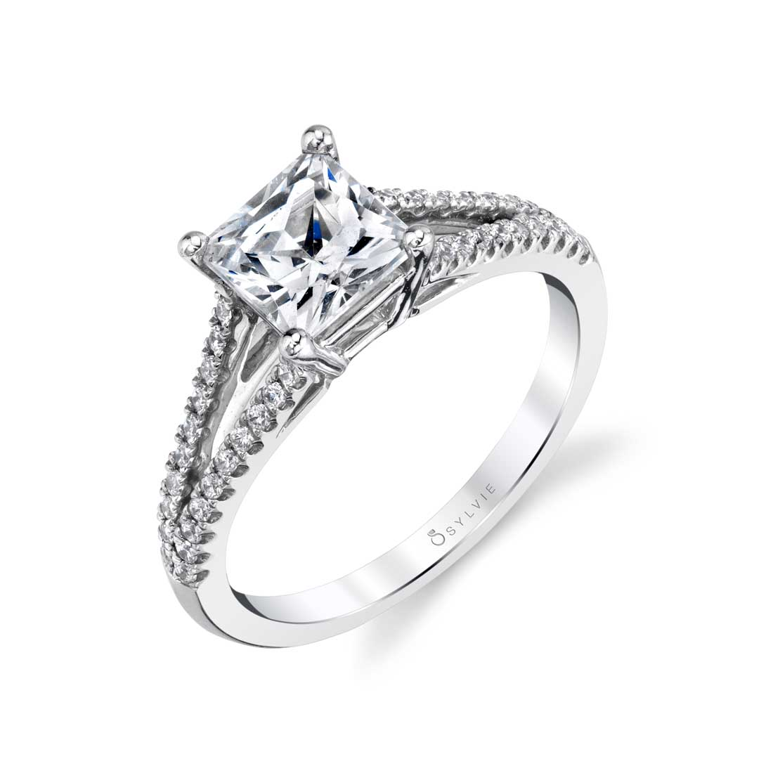 Unique Split Shank Engagement Ring