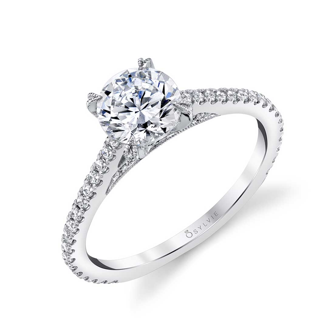 Classic Round Solitaire Engagement Ring