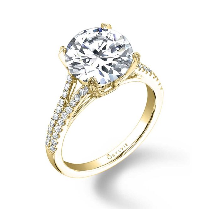 Round Split Shank Engagement Ring