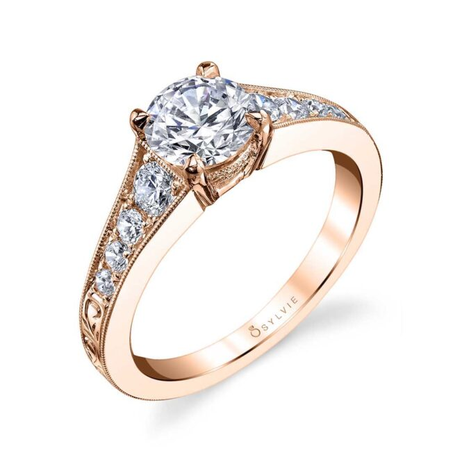 Vintage Inspired Solitaire Engagement Ring