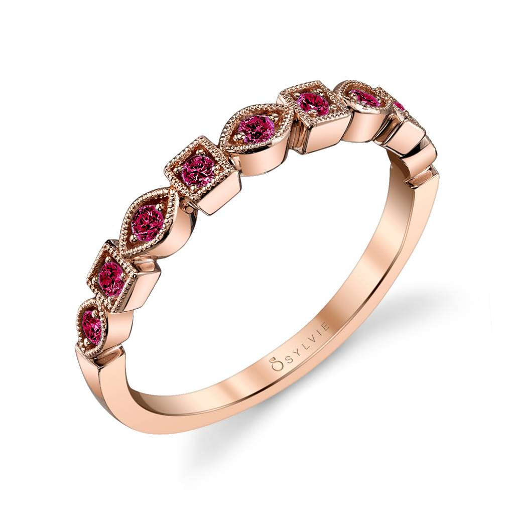 ruby stackable bands