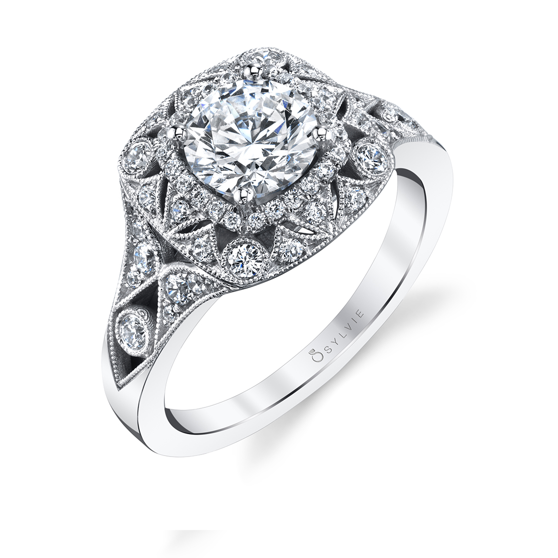 Vintage Inspired Engagement Ring-S2111