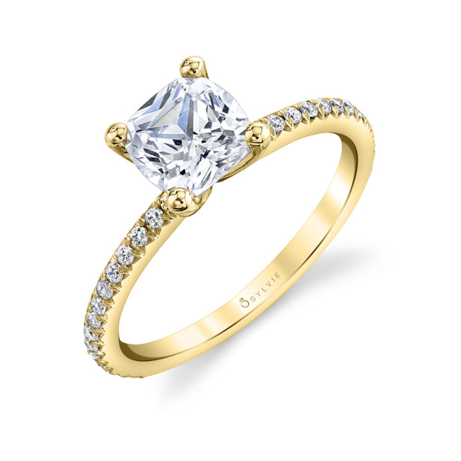 solitaire engagement ring sylvie S1093-CU-YG