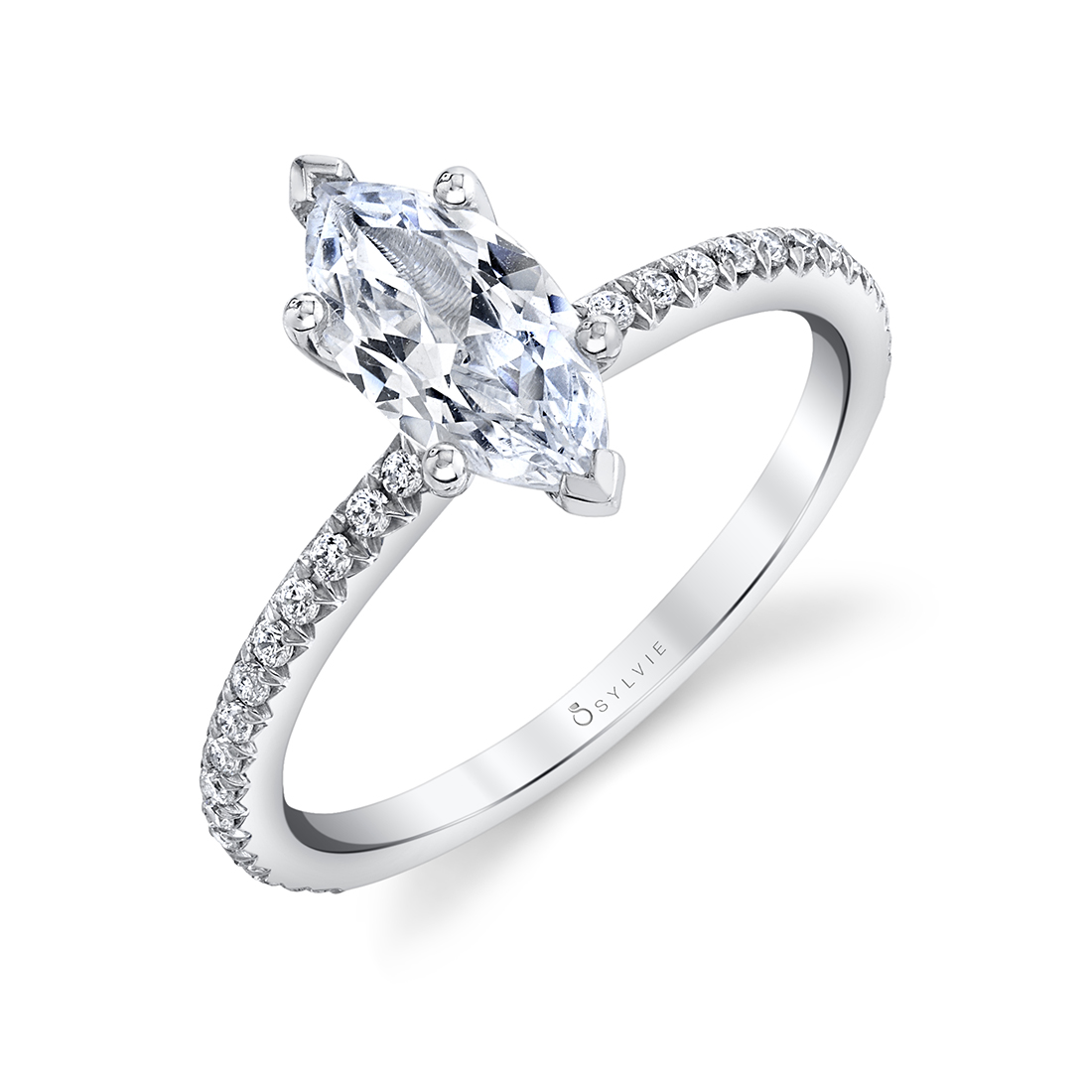 marquise engagement ring sylvie S1093-MQ