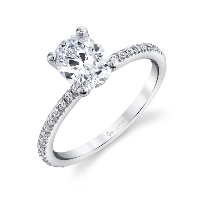 oval engagement ring sylvie S1093-OV