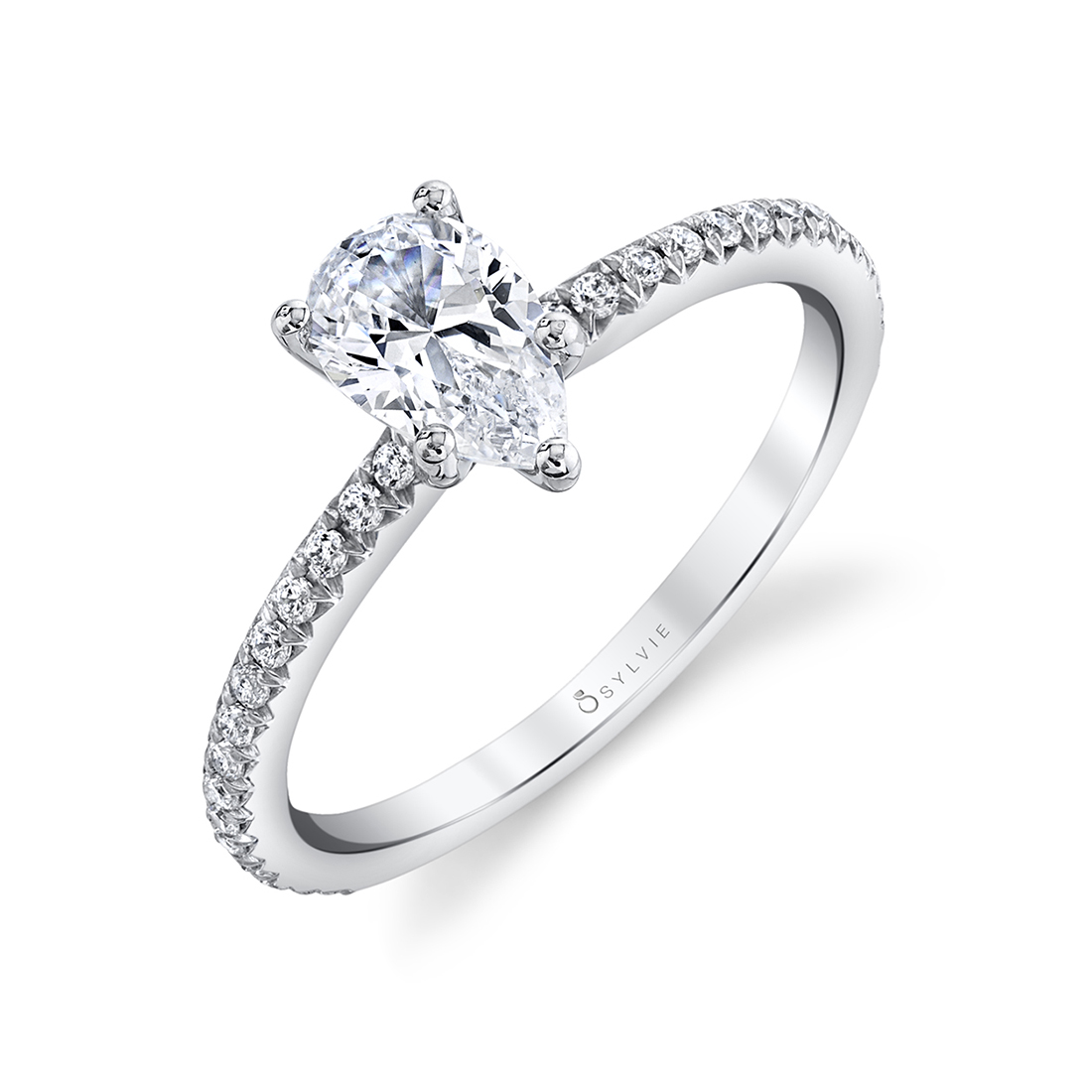 pear engagement ring sylvie