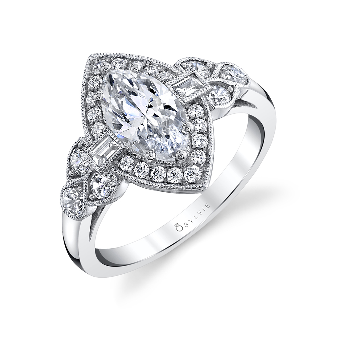 marquise engagement ring sylvie S